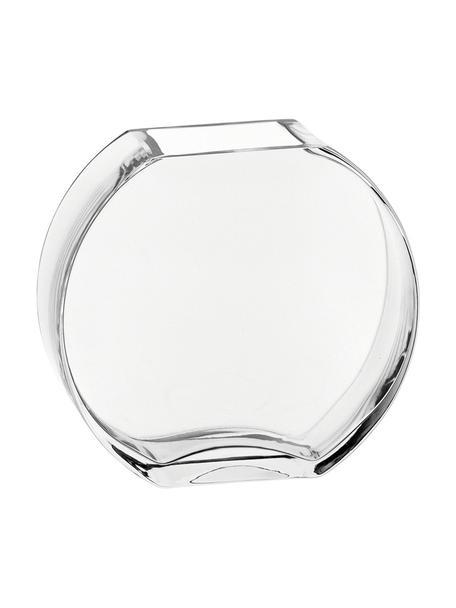 Handgemaakte glazen vaas Centro, Glas, Transparant, 17 x 16 cm