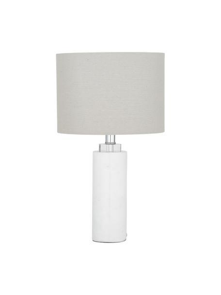 Lampa stołowa z marmurową podstawą Amanda, Biały, Ø 28 x W 48 cm