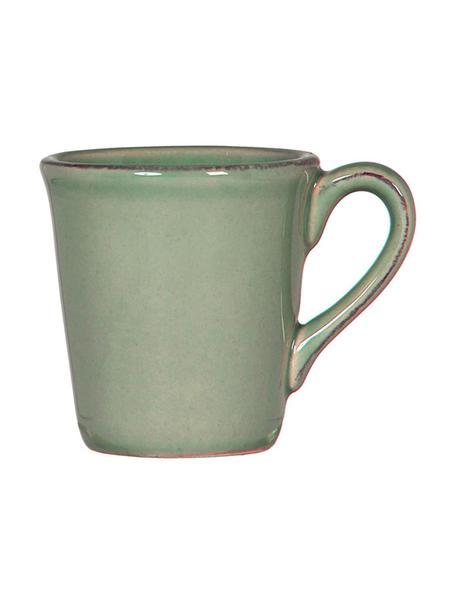Filiżanka do espresso Constance, 2 szt., Kamionka, Szałwiowy zielony, Ø 8 x W 6 cm