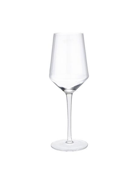 Mondgeblazen witte wijnglazenset Ays, 4-delig, Glas, Transparant, Ø 6 x H 24 cm