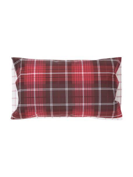 Fundas de almohada Tartan Check, 2uds., Algodón, Rojo, blanco, An 50 x L 85 cm