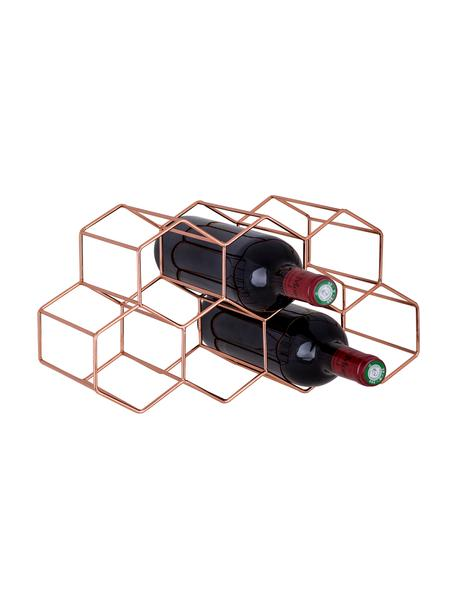 Botellero Hexagon, para 7 botellas, Cobre, Cobre, An 37 x Al 16 cm