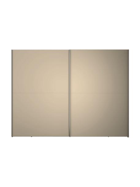 Beige kledingkast Oliver met schuifdeuren, Frame: panelen op houtbasis, gel, Beige, 302 x 225 cm