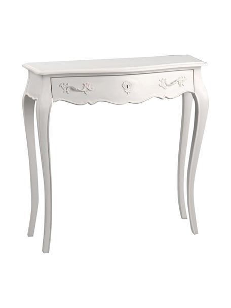 Consola artesanal Murano, Blanco roto, An 80 x Al 80 cm