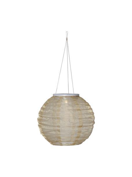 Lampada solare a sospensione Festival, Paralume: poliestere, Beige, Ø 25 x Alt. 21 cm