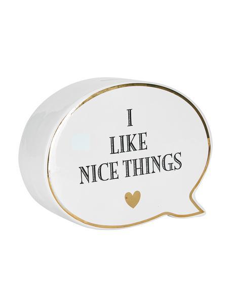 Hucha Nice Things, Cerámica, Blanco, negro, An 18 x Al 14 cm