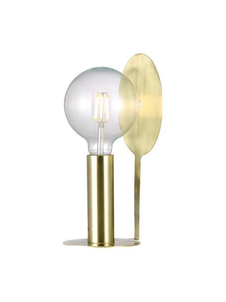 Lampada da tavolo in ottone Dean, Base della lampada: ottone, Paralume: ottone, Ottone, Larg. 17 x Alt. 32 cm
