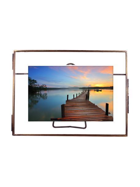 Bilderrahmen Selector, Rahmen: Messing, beschichtet, Front: Glas, Bronzefarben, 10 x 15 cm