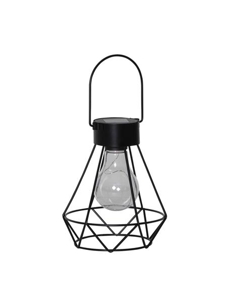 Lámpara solar para exterior Eddy, Pantalla: plástico, Estructura: metal recubierto, Negro, An 13 x Al 16 cm