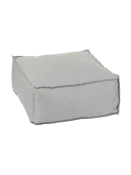 Poef Square, Bekleding: 100% polyester, Grijs, 60 x 28 cm