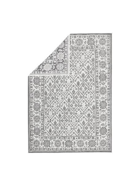 Alfombra reversible de interior/exterior Curacao, estilo vintage, Gris, crema, An 80 x L 150  cm(Tamaño XS)