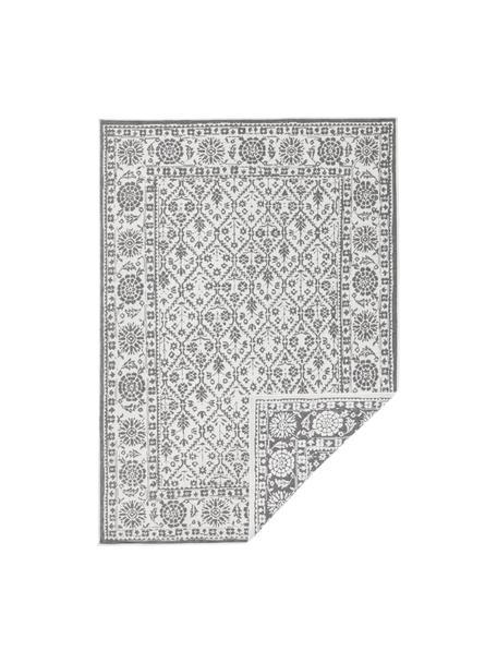 In- & Outdoor-Wendeteppich Curacao im Vintage Style, Grau/Creme, Grau, Cremefarben, B 80 x L 150 cm (Größe XS)