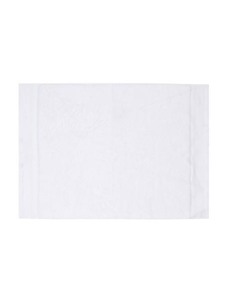 Badematte Premium, rutschfest, 100% Baumwolle, schwere Qualität 600 g/m², Weiss, 50 x 70 cm