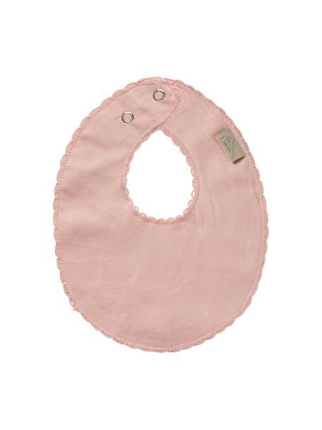 Bavaglino in cotone organico Protect, 100% cotone organico, Rosa, Larg. 20 x Lung. 23 cm