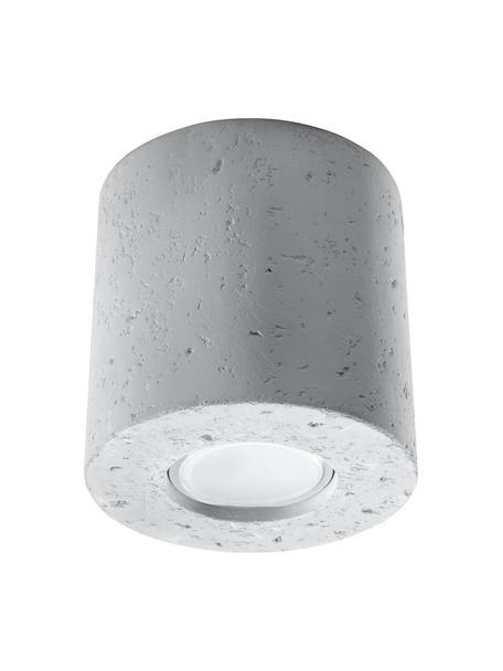 Lampa spot z betonu Roda, Beton, Jasny szary, Ø 10 x W 10 cm