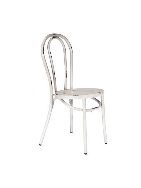 Silla Ninio, Acero, Blanco efecto vintage, An 40 x Al 87 cm