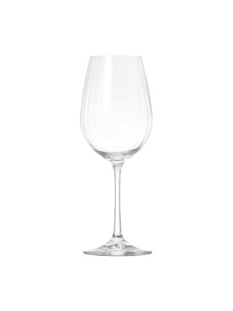 Kristallen witte wijnglazen Romance, 6 stuks, Kristalglas, Transparant, Ø 9 x H 22 cm