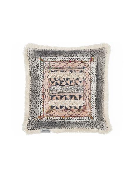 Ethno kussen Klana, met vulling, Katoen, Beige, 45 x 45 cm