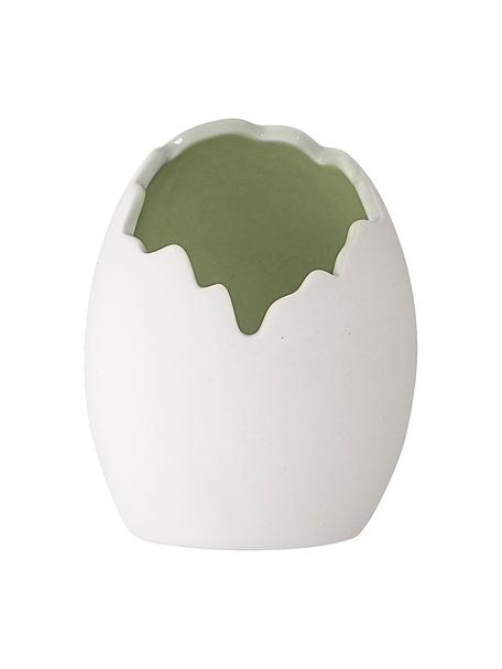 Vase Rona, Porzellan, Weiß, Ø 9 x H 10 cm