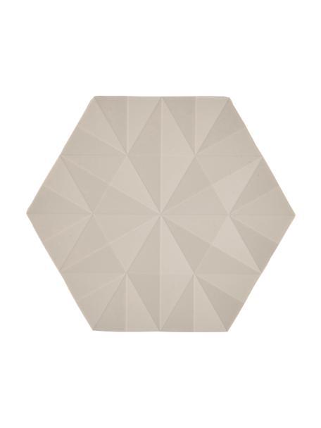 Topfuntersetzer Ori, 2 Stück, Silikon, Beige, 14 x 16 cm