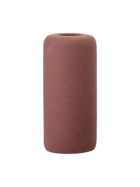 Kleine Vase Redstone aus Steingut, Steingut, Bordeauxrot, Ø 6 x H 13 cm