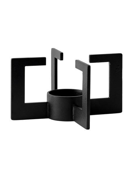 Designer Stövchen Warm-Up in Schwarz, Metall, pulverbeschichtet, Gummi, Schwarz, Ø 8 x H 15 cm