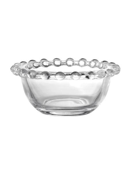 Szklana miska Perles, 2 sztuki, Transparentny, Ø 9 x 4 cm