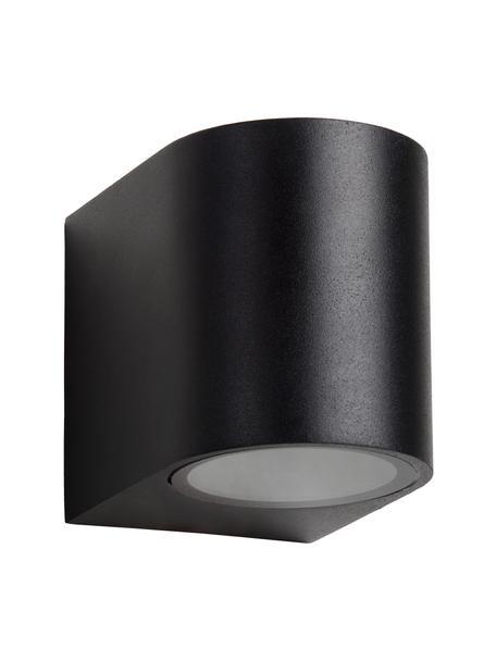 Außenwandleuchte Zora in Schwarz, Lampenschirm: Aluminium, beschichtet, Schwarz, 7 x 8 cm