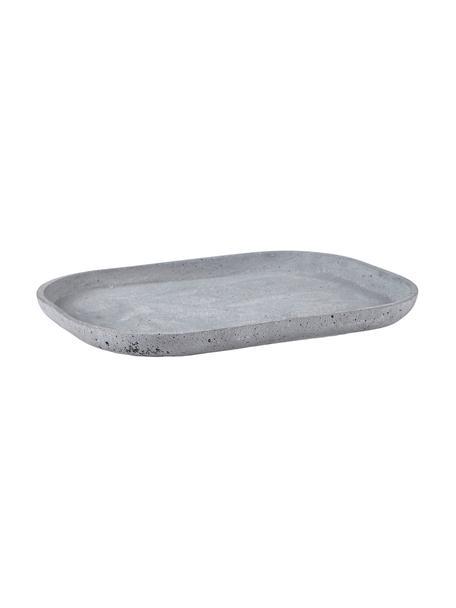 Tablett Pola, Kunstfaser, Grau, B 31 x T 23 cm