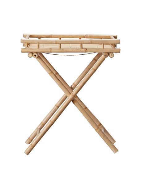 Mesa auxiliar de jardín plegable de bambú Mandisa, Bambú, natural, Bambú, An 60 x Al 68 cm