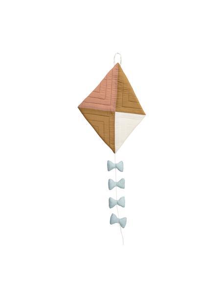 Dekoracja ścienna Kite, Tapicerka: bawełna, Niebieski, brązowy, kremowy, S 27 x W 37 cm