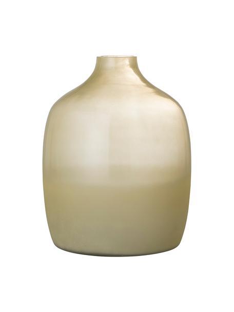 Glas-Vase Idima in Gelb, Glas, Gelb, Transparent, Ø 24 x H 30 cm
