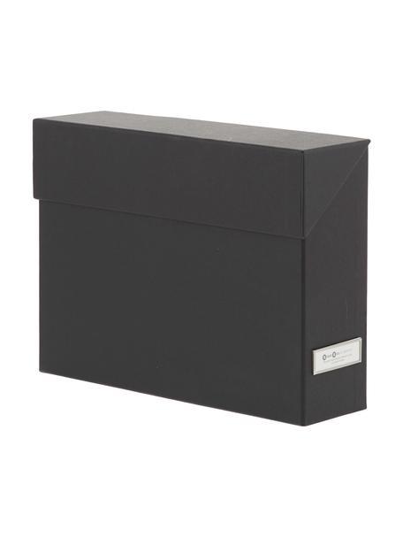 Aktenorganizer Lovisa, 13-tlg., Organizer: Fester, laminierter Karto, Schwarz, 33 x 24 cm