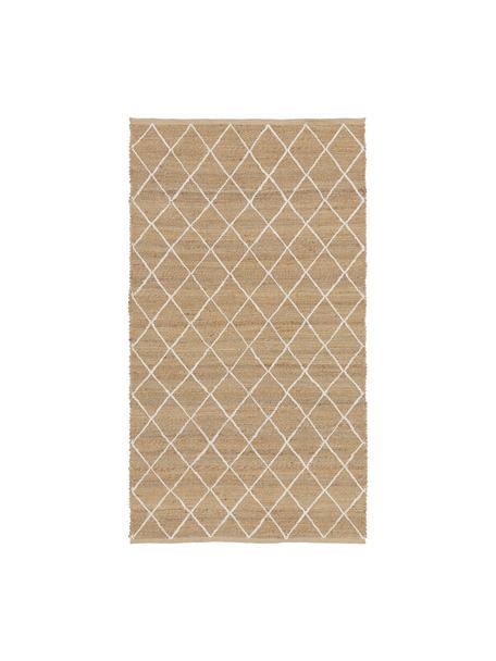 Alfombra artesanal de yute Kunu, 100%yute, Beige, An 80 x L 150 cm(Tamaño XS)