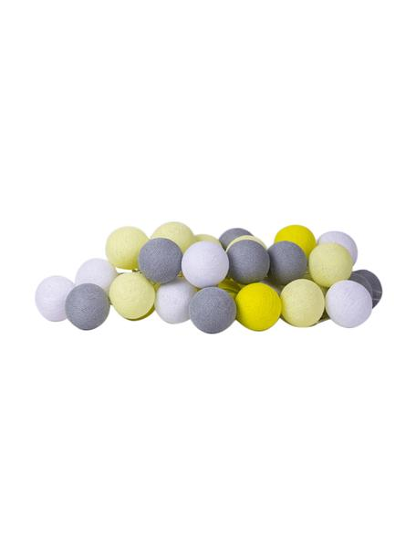 Guirnalda de luces LED Colorain, Linternas: poliéster, Cable: plástico, Amarillo, blanco, gris, L 264 cm