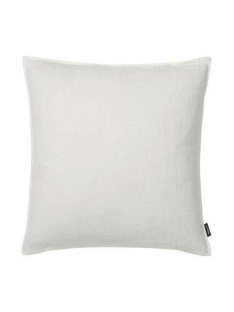 Poszewka na poduszkę z lnu z efektem sprania Sven, Len, Złamana biel, S 50 x D 50 cm