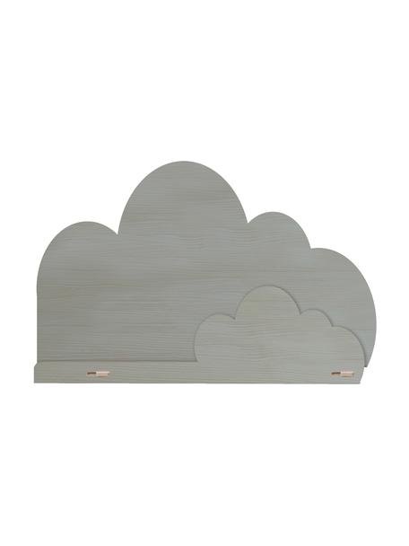 Wandregal Cloud, Sperrholz, beschichtet, Grau, 45 x 30 cm