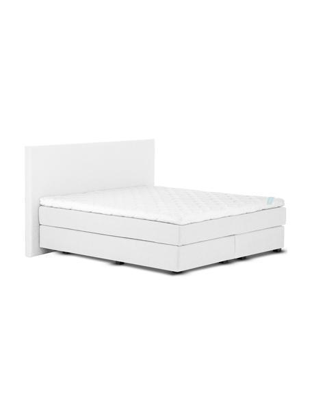 Łóżko kontynentalne premium Eliza, Nogi: lite drewno bukowe, lakie, Jasny szary, 140 x 200 cm