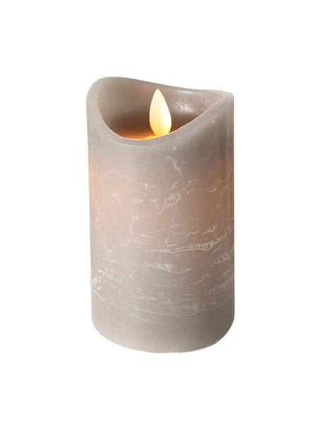 Candela a LED Bino, Grigio, Ø 8 x Alt. 12 cm
