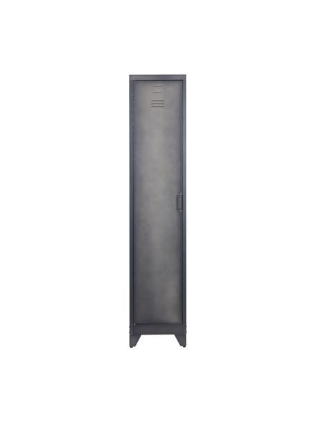Szafka z metalu z drzwiczkami Cas, Metal powlekany, Ciemny szary, S 38 x W 180 cm
