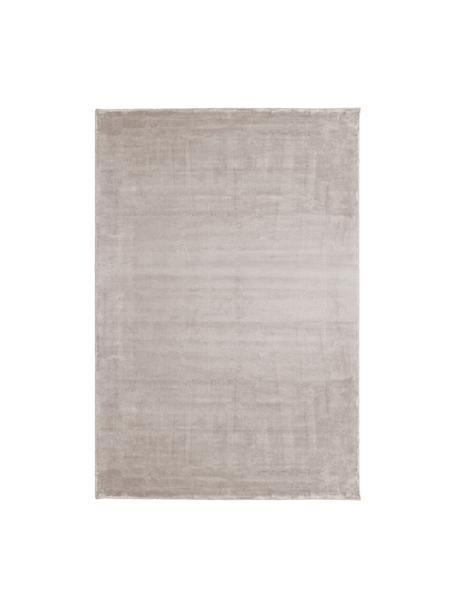 Tappeto in viscosa extra morbido Grace, Retro: 100% poliestere, Taupe, Larg. 200 x Lung. 300 cm (taglia L)