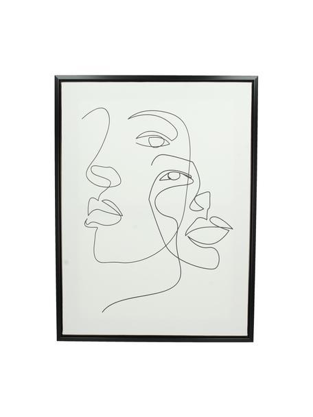 Stampa su tela incorniciata Aventurine, Cornice: materiale sintetico, Immagine: stampa digitale su lino, Bianco, Larg. 45 x Alt. 60 cm