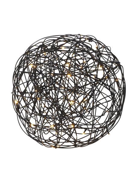 Lámpara LED para exterior Trassel, con enchufe, Lámpara: metal aluminio, Cable: plástico, Negro, Ø 30 x Al 30 cm