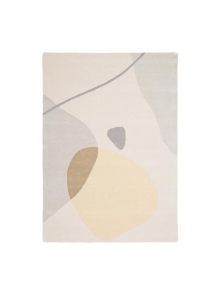 Tappeto in lana taftato a mano Luke, Retro: cotone, Beige, grigio, albicocca, Larg.160 x Lung. 230 cm  (taglia M)