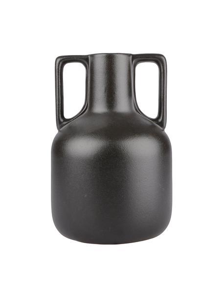 Jarrón de cerámica Anna, Cerámica, Negro, Ø 16 x Al 24 cm