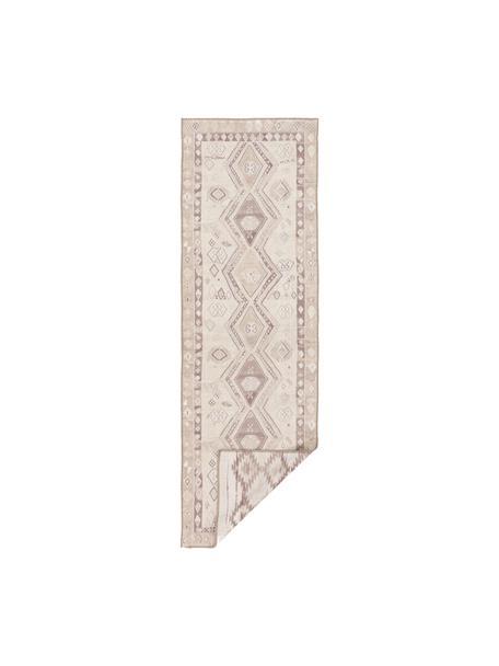 Dwustronny kilim etno Ana Aztec, 80% poliester 20% bawełna, Beżowy, taupe, S 75 x D 230 cm