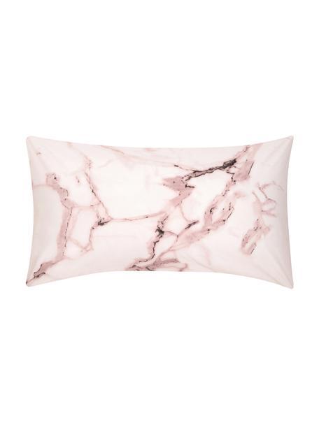 Funda de almohada de percal Malin, caras distintas, Rosa veteado, rosa, An 45 x L 85 cm