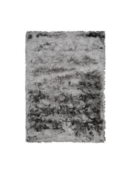 Glänzender Hochflor-Teppich Jimmy in Hellgrau, Flor: 100% Polyester, Hellgrau, B 80 x L 150 cm (Größe XS)