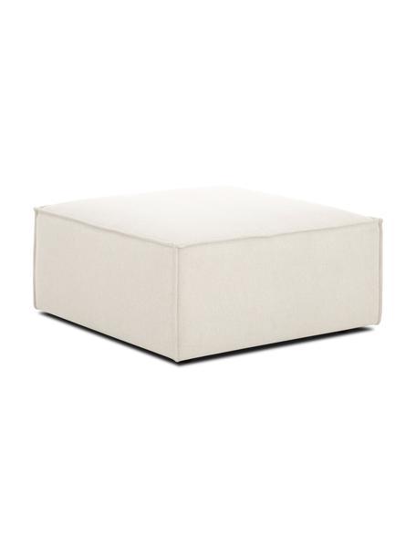 Poggiapiedi da divano beige Lennon, Rivestimento: poliestere 35.000 cicli d, Struttura: pino massiccio compensato, Piedini: materiale sintetico, Tessuto beige, Larg. 88 x Alt. 43 cm