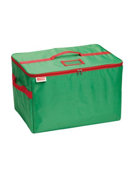 Bolsa organizadora para decoración de navidad TOP, Poliéster Cartón, Verde, rojo, L 51 x Al 34 cm